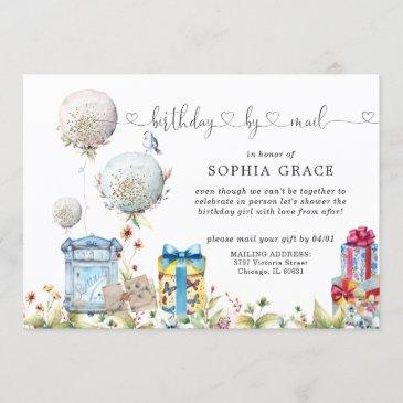 social distancing birthday by mail invitation