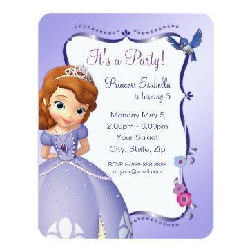 sofia the first birthday invitation