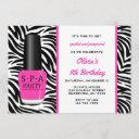 spa nail polish birthday invitations