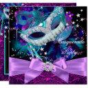 sparkle mask bow masquerade party invitation