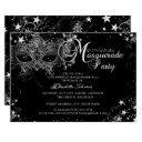 sparkle mask star night masquerade quinceañera invitations
