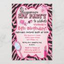 sparkle sleepover spa birthday party invitations