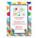 splish splash bash (blue) invitation