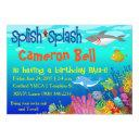 splish splash under the sea birthday bash! invitation