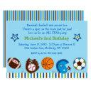 sports 1st birthday invitations
