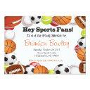 sports fan birthday invitations