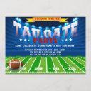 sports football birthday party invitations