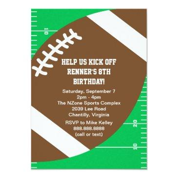 sports football birthday party invitation