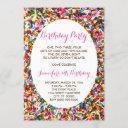 sprinkles birthday party invitation