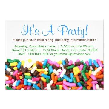 sprinkles invitations