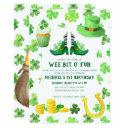 st. patrick's day birthday party invitations