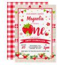 strawberry birthday invitations berry sweet party