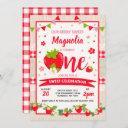 strawberry birthday invitation berry sweet party