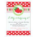 strawberry polka dot party invitation