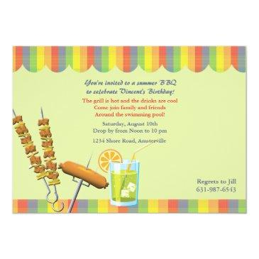 summer cookout birthday invitation