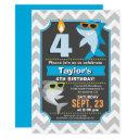 summer shark birthday invitations