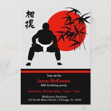 sumo birthday theme invitation