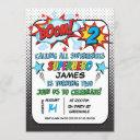 superhero 2nd birthday party invitation