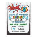 superhero 5th birthday party invitations
