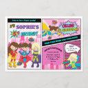 superhero birthday party girl power super hero invitation