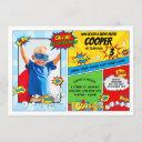 superhero birthday party super hero photo invitation
