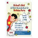 superhero party birthday invitations