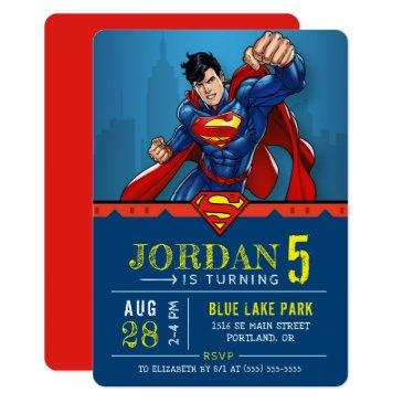 superman | happy birthday invitations