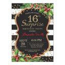 surprise 15th birthday invitation christmas gold