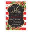 surprise 15th birthday invitations christmas gold