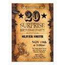 surprise 20th western birthday invitations