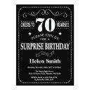 surprise 70th birthday invitations chalkboard