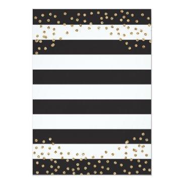 Small Surprise 70th Birthday Invitation. Gold Glitter Invitations Back View