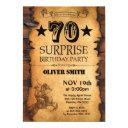 surprise 70th western birthday invitation