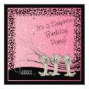 surprise kid's birthday party kittens invitation