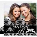 sweet 16 black twins photo sweet sixteen invitations