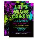 sweet 16 glow party birthday invitation
