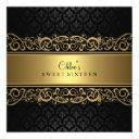 sweet 16 | gold & black damask invitation