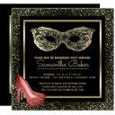 sweet 16 masquerade ball | pink gold sweet sixteen invitations