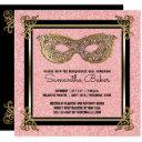sweet 16 masquerade party | sweet sixteen birthday invitations