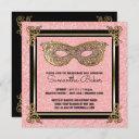 sweet 16 masquerade party | sweet sixteen birthday invitation