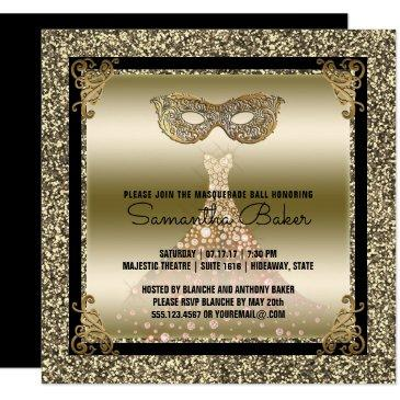 Mardi Gras Birthday Invitations