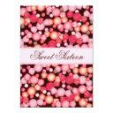 sweet 16 sixteen candy collection in pink invitations