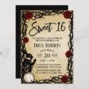 sweet 16 vintage alice in wonderland birthday invitation