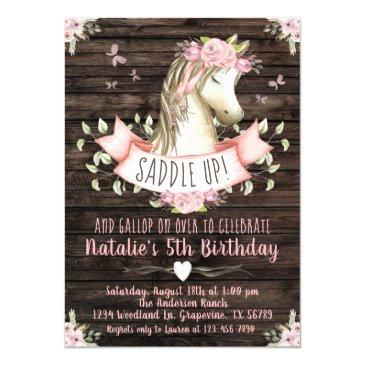 sweet horse birthday party invitation