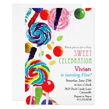 sweet shoppe shop candyland birthday invitations