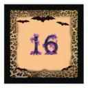 sweet sixteen birthday party, halloween invitation