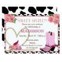 sweet sixteen cowgirl birthday invitation