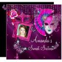 sweet sixteen, masquerade ball, mard gras invitation