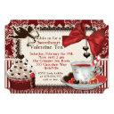 sweetheart valentine tea party invitations