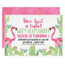 taco 'bout a fiesta flamingos birthday invitations